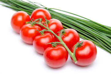 Cluster tomatoes with chive