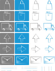 Small set of icons for e-shops vol.4
