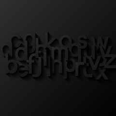 Abstract background with alphabet