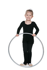 Little girl with a hoop