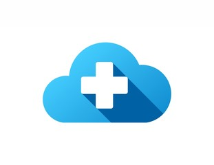 cloud logo,plus data computing medical pharmacy,medicine symbol