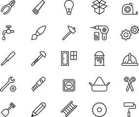 Carpenter tools icons