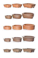 Set of ceramic flowerpots