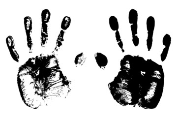 high detailed hand prints