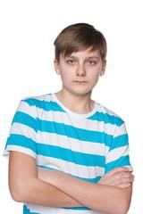 Serious teenager boy