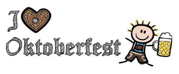 I LOVE OKTOBERFEST mit Wiesn-Kellner