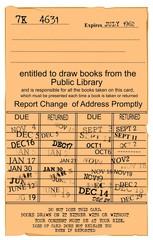 retro library card
