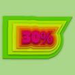 30 percent colorful vector
