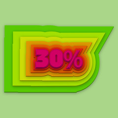 30 percent colorful vector