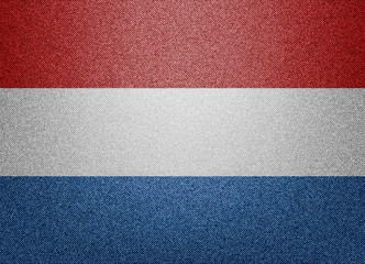 Netherlands denim flag