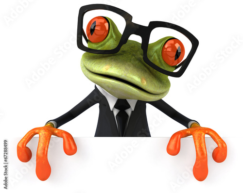 canvas print picture Business frog