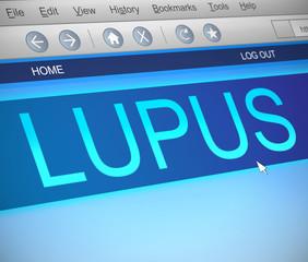 Lupus concept.