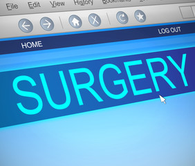 Surgery concept.