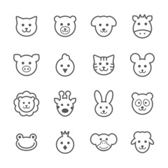 Animals icons set.