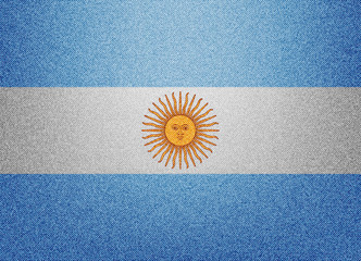 Argentina denim flag