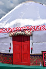 Entrance to the Kazakh yurt