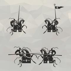 Knights. Vector format