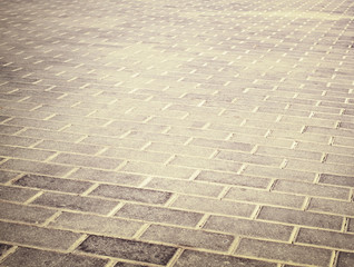 brick grunge pavement in the city