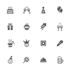 Party icons set.
