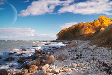 Baltic sea in autumn