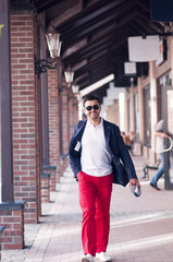Stylish man on walk