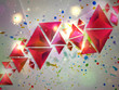 canvas print picture - Background of 3d Triangles