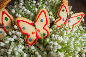 Gingerbread in the form of a butterfly