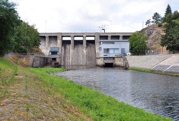 concrete dam, Brno, Czech Republic, Europe