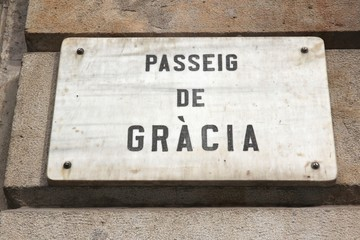 Barcelona street - Passeig de Gracia