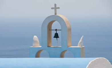 Christian church dome, Santorini