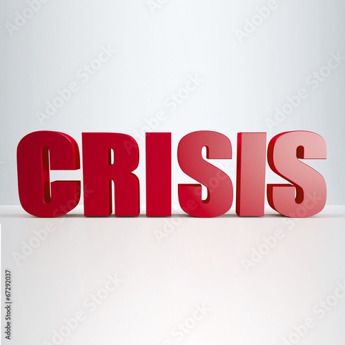 red Crisis sign