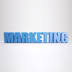 blue Marketing sign