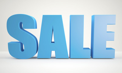 blue Sale sign