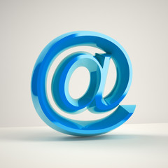 blue shiny at e-mail symbol