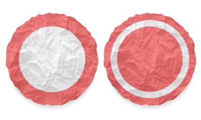 two icons with texture crumpled paper