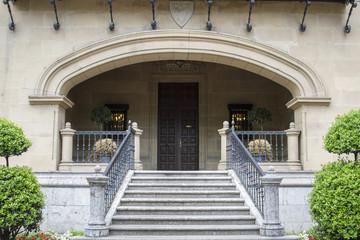 Main gate of Ibaigane Palace, Bilbao (Spain)