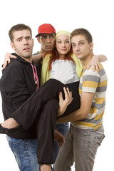 Four people on a white background -  Youth Culture.
