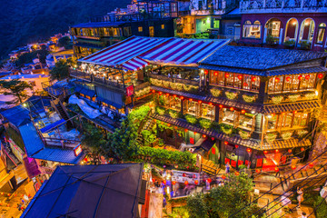 Hillside teahouses of Juifen, Taiwan
