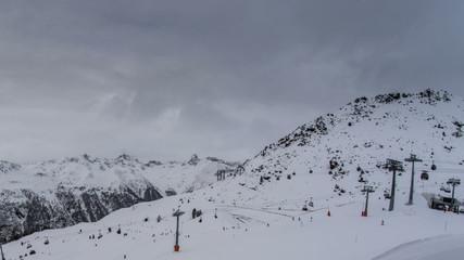 Ischgl ski resort lift station time lapse 4K