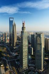 Shanghai World Financial Center and Lijiazui road
