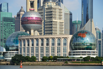 Shanghai International Convention Center and skyscrapers