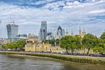 New and old  London skyline