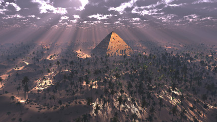 Pyramids light magic