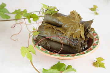 Salted grape leaves for cooking dolma