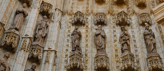Detail facade Cathedral, Seville, Spain