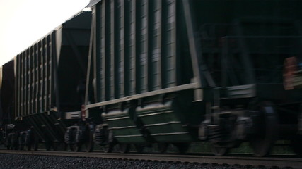 Freight train passing by.