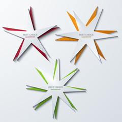 vector modern star banners background.