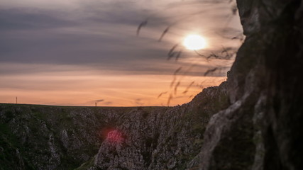 Transylvania Tureni Canyon sunset time lapse 4K