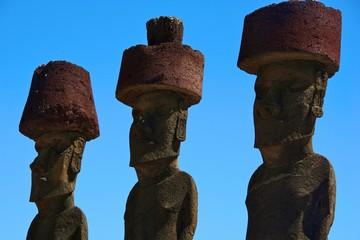 Moai at Easter Island, Chile