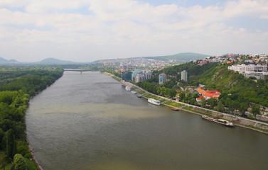 River Danube. Bratislava, Slovakia